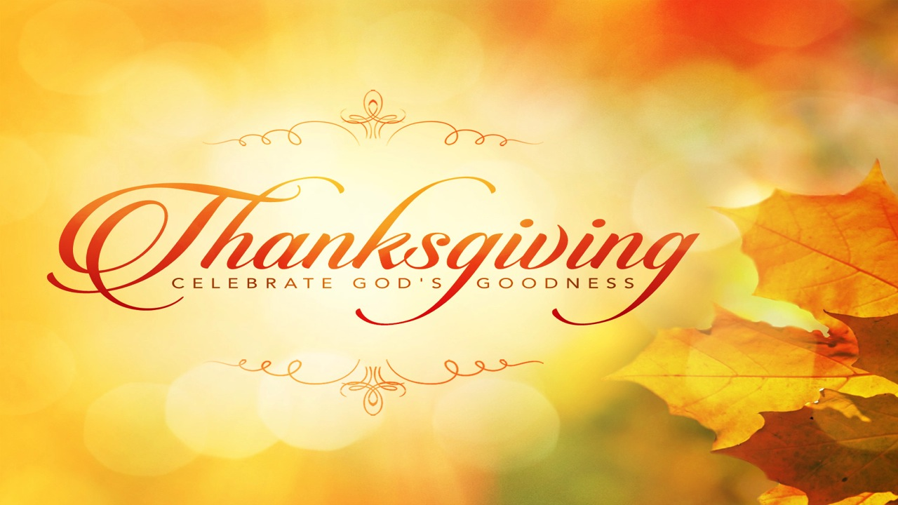 Thanksgiving Celebrate God's Goodness
